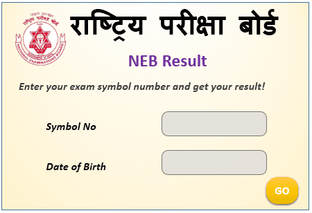 NEB Result with marksheet 2077