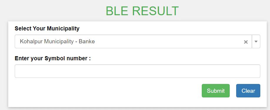 BLE Result 2077